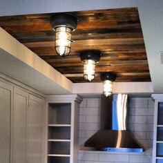 wood ceiling- basement? Use wood from old barn