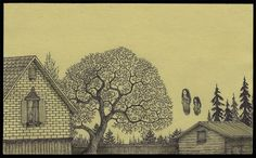 Tim Burtonesque stories on Post-it notes by artist John Kenn