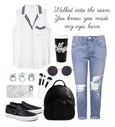 """Blue Jeans"" by madalina41319 ❤ liked on Polyvore featuring Equipment, Topshop, Vans, Alexander Wang and Uncommon"