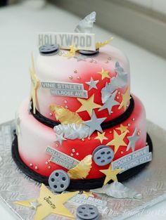In Hollywood Theme Birthday Cake Album Photos