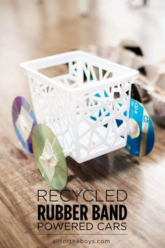 Recycled Rubber Band Powered Car