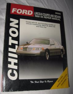 Chilton Repair Manual Lincoln Coupes and Sedans, 1988-00 #26500