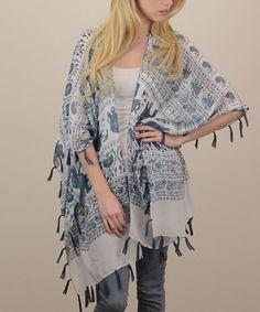 Navy + White Elephant Kimono  @mysapphiresoul   #sapphiresoul