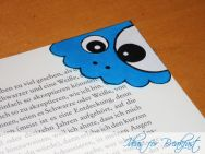 Monster Bookmarks - used floral contact paper for top instead of a monster face
