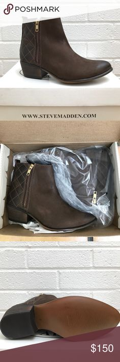 STEVE MADDEN – Nyrvana Bootie (brown leather) Womens Steve Madden Nyrvana bootie in brown leather. Brand new, never been worn (half size too small for me). Originally purchased from Hollister Co. Comes with original box. — Like the item, but not the price? Make an offer! 📦🔜🏡 Steve Madden Shoes Ankle Boots & Booties