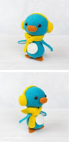 Meet Kevin, the perfect amigurumi penguin to be right by your side. Crochet it today with our step-by-step penguin crochet pattern! Crochet Patterns Amigurumi, Amigurumi Doll, Crochet Toys, Crochet Animals, Cute Crochet, Hand Crochet, Stitch Head, Crochet Penguin, Yarn Tail