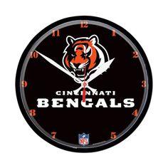 Cincinnati Bengals NFL Round Wall Clock