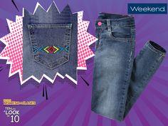 Estos jeans #Weekend son perfectos para un look romántico de verano. Complementa con la blusa favorita de tu niña. #TenUnLookDe10