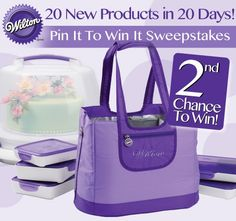 Last month, we focused on 20 new products in 20 days that were developed with you, the decorator, in mind. To celebrate these Wilton 20/20 products, we are offering you another chance to win some of your favorite new Wilton product via our 2nd Chance Pinterest Pin it and Win It Sweepstakes!