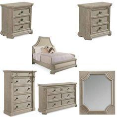 ART Furniture - Arch Salvage Mist Bryce 6 Piece Queen Upholstered Bedroom Set - 233125-2823-6SET