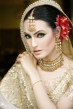 Bride....Bridal makeup and jewellery