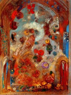 Learn more about Stained Glass Window (Allegory) 1908 Odilon Redon - oil artwork, painted by one of the most celebrated masters in the history of art. Fused Glass Art, Stained Glass Art, Stained Glass Windows, Window Glass, Window Art, Odilon Redon, Glass Art Design, Drawing Eyes, Edvard Munch