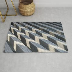 Play of light and shadow on wooden slats Rug by psycheacrylic Wooden Slats, Light And Shadow, Accent Pillows, Shapes, Play, Art Prints, Rugs, Home Decor, Art Impressions