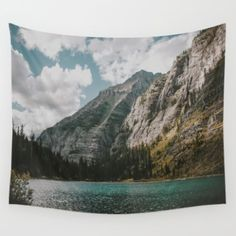 Wall Tapestry featuring Rocky Mountains by Hannah Kemp