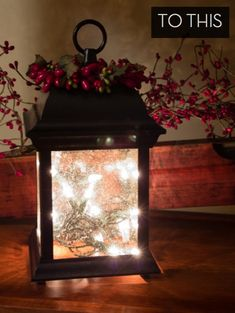 How to: Turn an Outdoor Light Fixture into an Indoor Holiday Lantern » Curbly | DIY Design Community