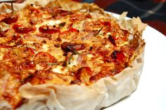 Bacon, Rosemary and Feta Quiche ~ making this for Shakespeare in the Park tomorrow! Egg Dish, Low Fodmap, Sun Dried, Pepperoni, Lasagna, Quiche, Feta, Food To Make, Nom Nom