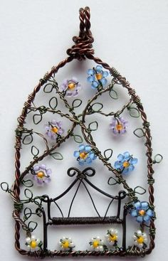 unique wire wrapping artwork ~ ideas arts and crafts projects
