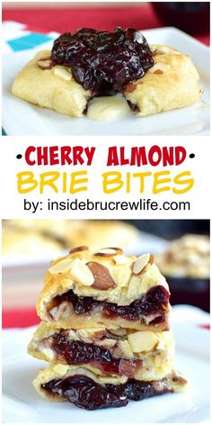 These crescent roll bites are filled with a homemade cherry filling and brie cheese.  Delicious appetizer for any party or game day!