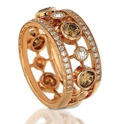 Le Vian Chocolate Diamonds - my new favorite Jewelry Rings, Jewelry Accessories, Fine Jewelry, Jewelry Design, Jewellery, Love Ring, Diamond Bands, Diamond Are A Girls Best Friend, Beautiful Rings