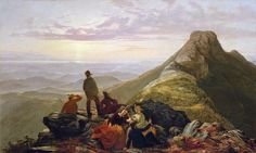 Jerome B Thompson - The Belated Party on Mansfield Mountain [1858]  #19th #Classic #Jerome B #Thompson #Painting
