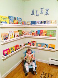 Kids Bookshelf from gutters