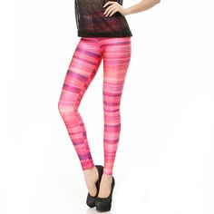 Charming Galaxy | Chromatic Stripe Leggings Pants | Online Store Powered by Storenvy