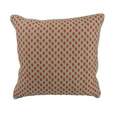 Ikat Dots Pillow in Paprika