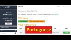 Ads4btc - Best PTC Site for Free Bitcoin Earning Portuguese