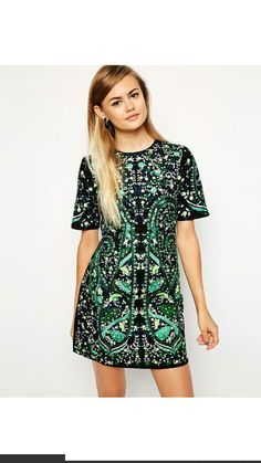 #Green #embellishments #Asos