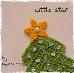 Little star pattern - free crochet pattern - link to tree also Crochet Star Patterns, Crochet Snowflake Pattern, Crochet Stars, Christmas Crochet Patterns, Holiday Crochet, Crochet Snowflakes, Crochet Motif, Crochet Flowers, Free Crochet