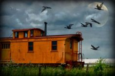 Missabe & Iron Range combo caboose...possibly in Canada~I know it runs through Minnesota
