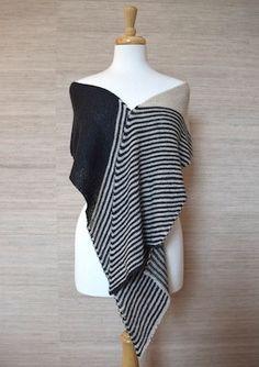 Hand knit ellen scarf or wrap kit. Jane's Knitting Kits