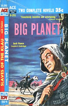 scificovers: Quite a scary looking steed. Ace Double D-295Big Planet by Jack Vance. Cover art by Ed Emshwiller 1958.