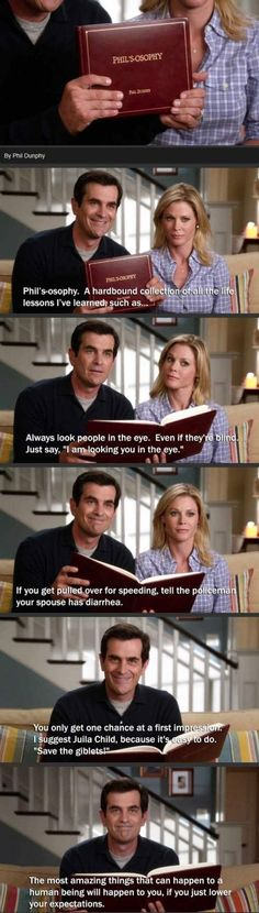 Phil Dunphy it's really scary when you guess what's his next move lol