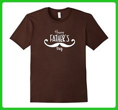 Mens HAPPY FATHER'S DAY 3XL Brown - Holiday and seasonal shirts (*Amazon Partner-Link)