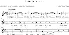 Campanario. Canto Campesino. Cancionero de las Montañas-Canciones de Santander.
