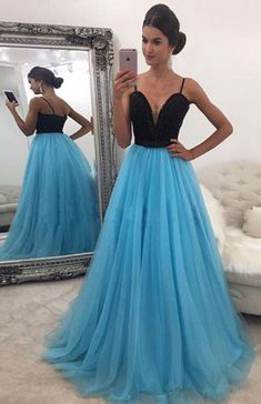 Cheap prom dresses Buy Quality a line prom dress directly from China prom dresses Suppliers: Sparkly Sweetheart Beaded A Line Prom Dresses 2017 Real Picture Tulle Floor Length Sleeveless Blue Long Prom Dress Prom Dresses 2017, A Line Prom Dresses, Formal Dresses For Women, Cheap Prom Dresses, Dresses For Teens, Dance Dresses, Dress Formal, Prom Gowns, Dress Long