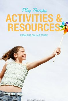 Tons of play therapy finds from the dollar store. Play Therapy Activities, Kids Therapy, Counseling Activities, Therapy Ideas, Counseling Office, Group Counseling, Child Life Specialist, Social Work, Dollar Stores