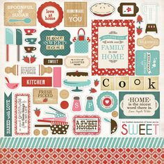 Carta Bella Paper - Home Sweet Home Collection - 12 x 12 Cardstock Stickers - Elements