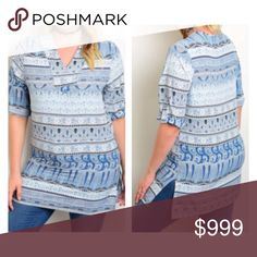 Coming soon! (Plus) Sky blue blouse COMING SOON!! Expected date of posting- 8/22.  Availability: 1x•2x•3x • 2•2•2  🚫Current price is not what this will be listed at. Please like this listing to be notified of its arrival 🚫 Tops Blouses