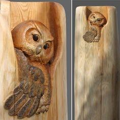 Wood carving artist Mori Kono gives life to adorable animals from fallen logs   #animal #animalsculpture #art #canada #carving #mkcarving #morikono #sculpture #woodcarving #woodsculpture