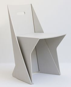 Australian industrial designer Stuart Mcfarlane has designed a chair made by folding recycled plastic.