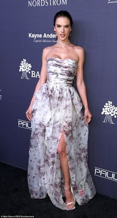 Dressed to kill! Supermodel Alessandra Ambrosio, 36, dazzled at the Baby2Baby Gala at 3La...