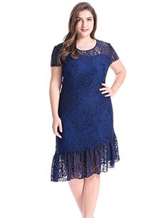 Chicwe Women's Lined Stretch Floral Lace Plus Size Sheath...