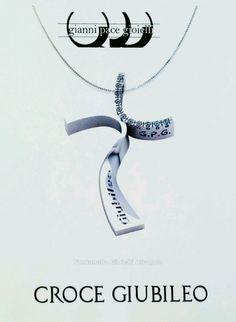 Croce Giubileo Misericordia in oro 18 kt e diamanti Gianni Pace Gioielli