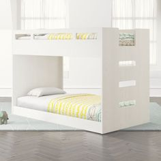 Shop Abridged Low Twin Bunk Bed. We've created a Bunk Bed with more space saving capabilities than ever before. No, we didn't use magic. We just scaled it down a bit. With a smaller profile than a usual loft bed, this bunk bed is actually a loft bed and rolling twin bed combo.