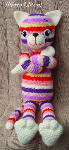 Crochet kitten  Pets  Crochet toy  Handmade от NittoMiton на Etsy