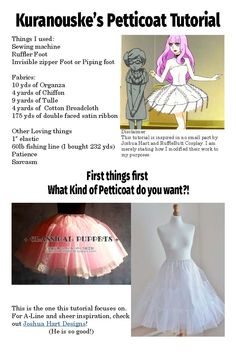 I decided to make a tutorial for a bell shaped petticoat.