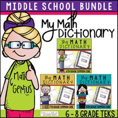 My Math Dictionary Elementary Bundle (Grades This resource includes materials needed for students to create their own math dictionary. Love Teacher, Teacher Tools, Middle School Teachers, School Classroom, I Hate Math, Math Vocabulary, Secondary Teacher, Math About Me, 8th Grade Math