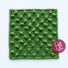 """Pennies from Heaven - free 9"""" square crochet pattern and video by Polly Plum at Every Trick on the Hook."""